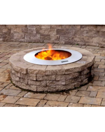 "ZENTRO STAINLESS STEEL 28"" FIRE PIT WITH LID"