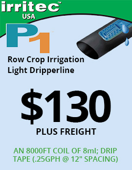 Row Crop Irrigation Light Dripperlin