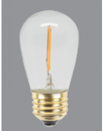 LED PURE WHITE S14 BULB - 12V