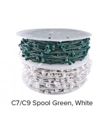 "C7 Socket Cable, Green,1,000 ft, 12"" Spacing"