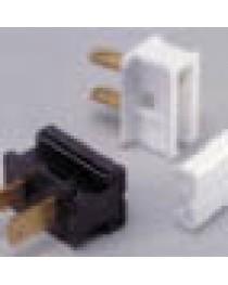 Male Slide On Polarized Plug; SPT-1; White